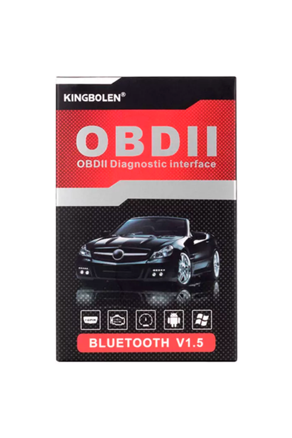 OBD2 diagnostic interface KINGBOLEN bluetooth v1.5
